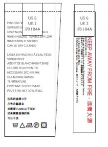 Global Care + Size Label - Example